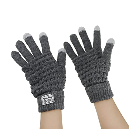 Mens Womens Touch Screen Gloves iphone Smartphone Knitted Warm Thermal Glove