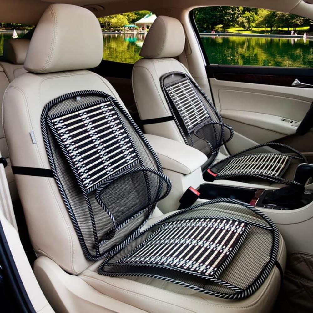 Bequem Massage Premium Holzperlen R/ückenlehne,mit hohem Bel/üftung Universaltyp Auto Autositz//2 St/ück 3 Stil FENG Sommer Bambus St/ück Auto Sitzbezug