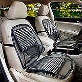 Morza Schwarz Fahrzeugfront Einzelsitzabdeckung PU-Leder-Bambuskohle-Schutz Mat Kissen ohne R/ückenlehne