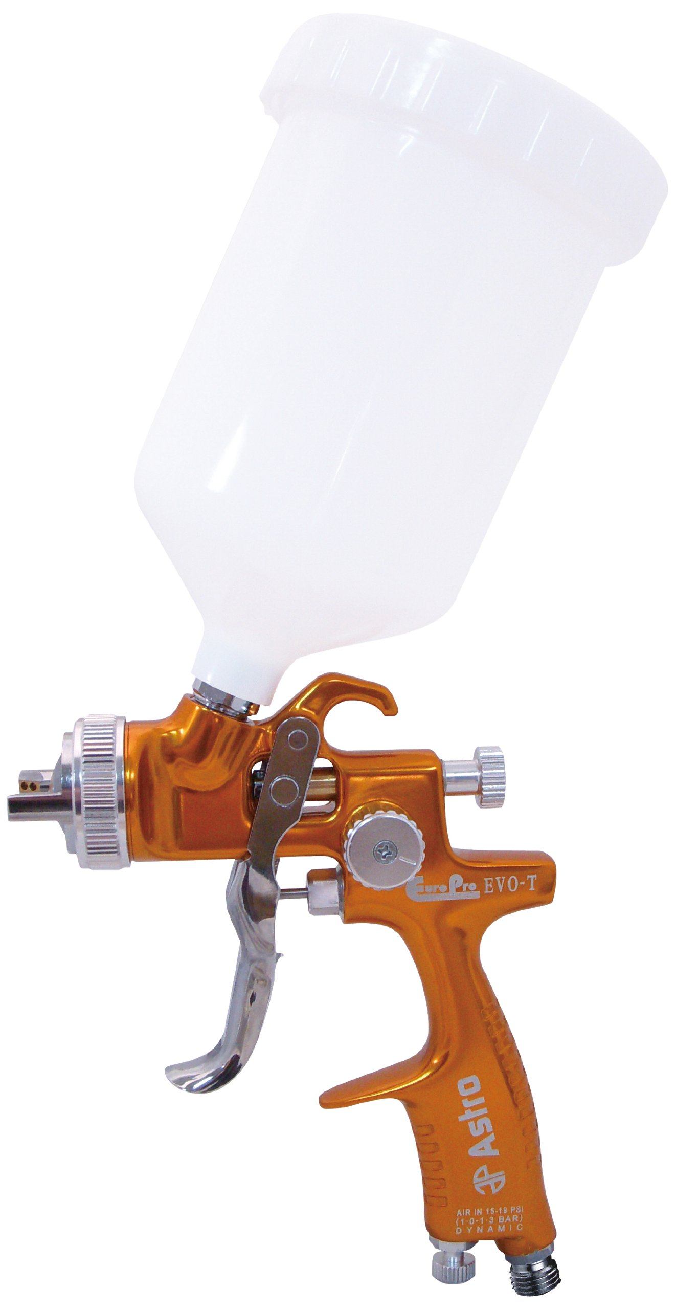 Astro EVOT14 EuroPro Forged LVLP Spray Gun with 1.4mm Nozzle and Plastic Cup