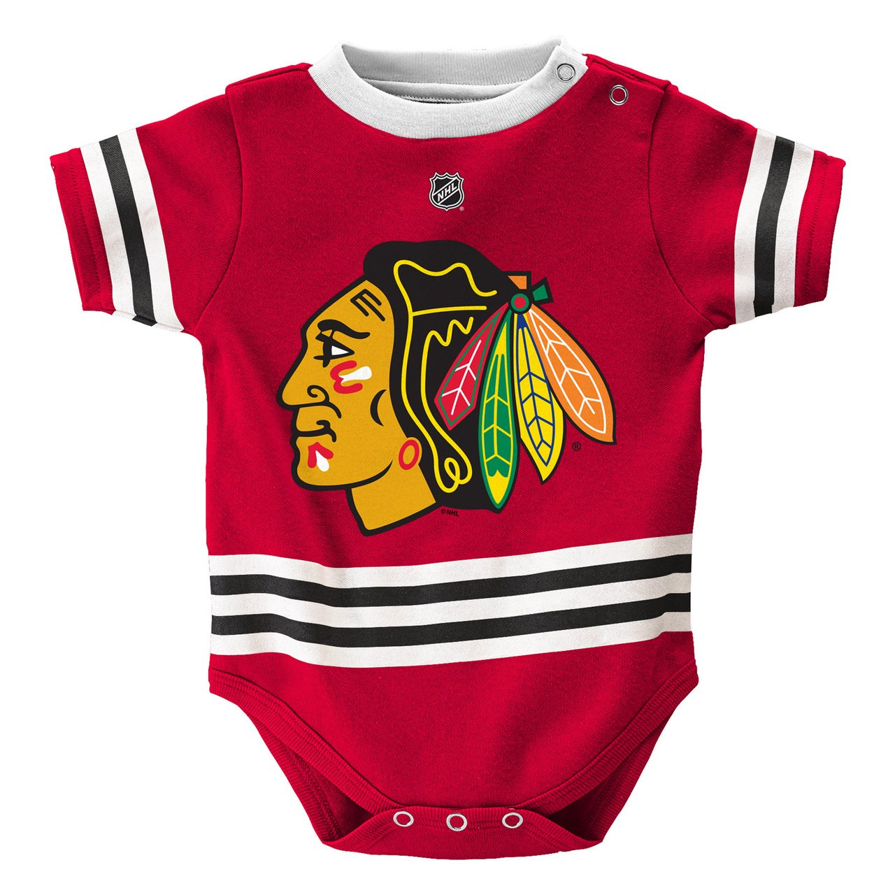 low priced 69d54 1eb7f Outerstuff Chicago Blackhawks Baby/Infant Hockey Jersey Style Creeper