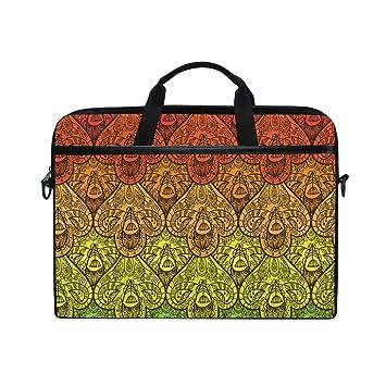 Ahomy - Bolsa de Tela para Ordenador portátil de 14 Pulgadas, diseño étnico Africano, con Correa para el Hombro para Mujeres y Hombres: Amazon.es: ...