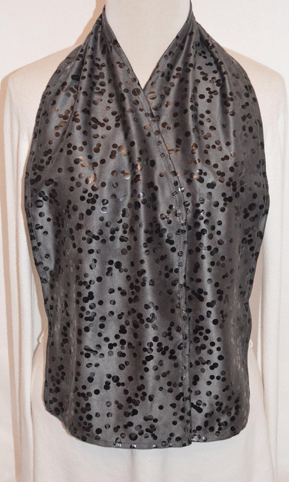 DinerWear Cravaat - Fashionable Adult Bib Dining Scarf (Black Dot)