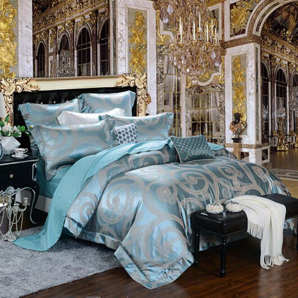 L&M Silk pieces of four sets Mulberry silk bed linings Silk sheets Quilt cover