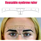 DJDZ 50pcs Reusable Soft Accurate Eyebrow Ruler Sticker Microblading Makeup Tools ,Adhesive Eyebrow Measurement Ruler Template Stencil Sticker for Tattoo