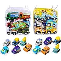 BBLIKE 12 Pièces jouets Voitures Miniatures jouets voitures frictions Jouets Éducatif pour Enfants (2 Paquet 12 Pièces)