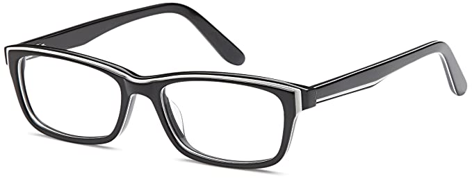 3657fc59c236 DALIX Womens Prescription Eyeglasses Frames 50-16-140-31 RXable in Black GLS