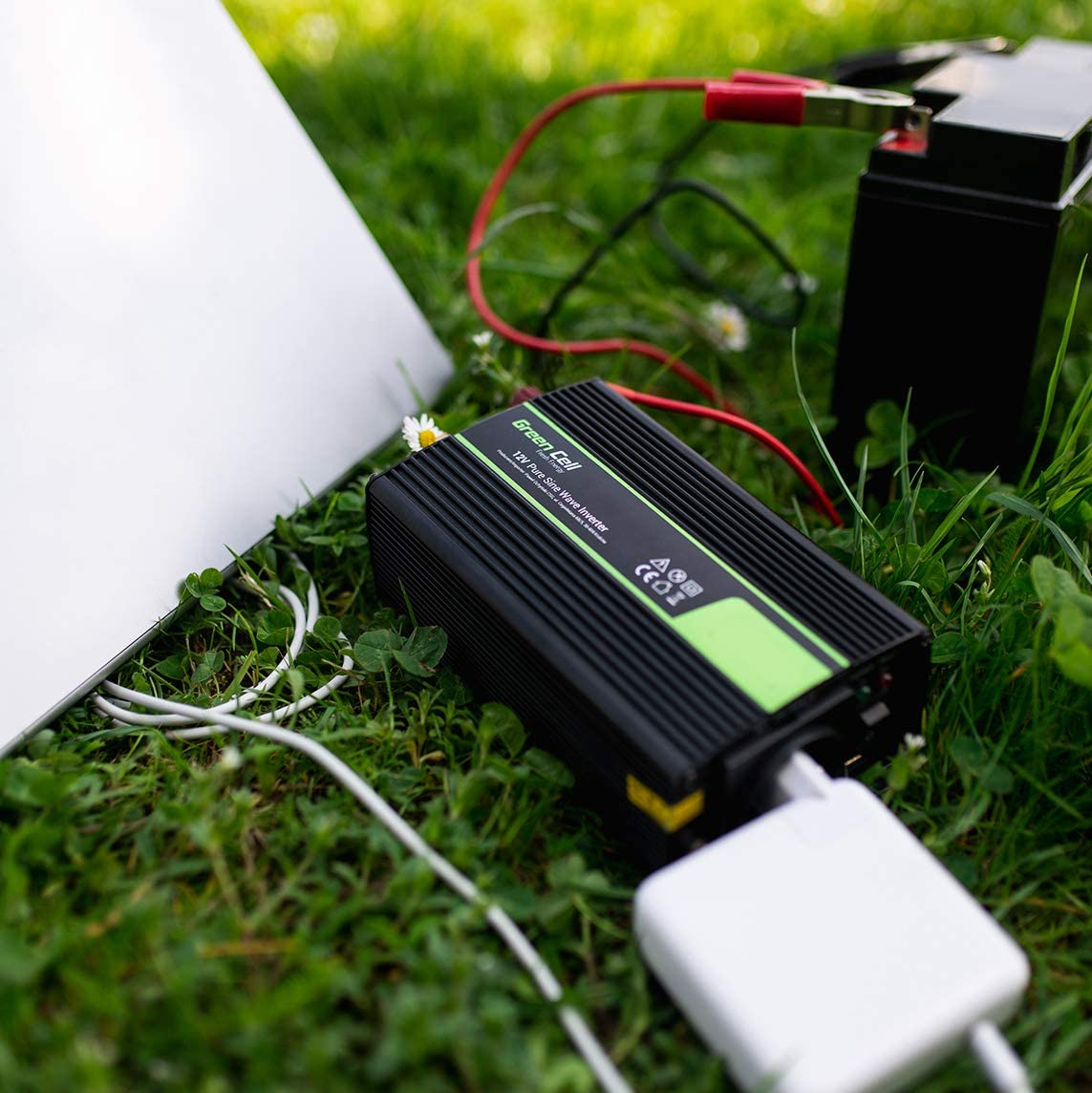 Trasformatore sinusoidale Pura Porta USB per Batteria Auto Green Cell/® 3000W//6000W 24V 220V//230V Onda Pura Inverter Invertitore di Tensione Fotovoltaico DC AC per Camper Auto Convertitore di Potenza