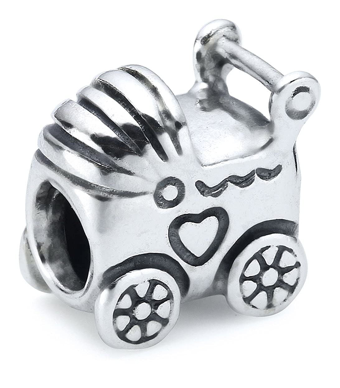Amazon.com: Pandora Womens Genuine Sterling Silver Baby Carriage Charm, 790346: Jewelry