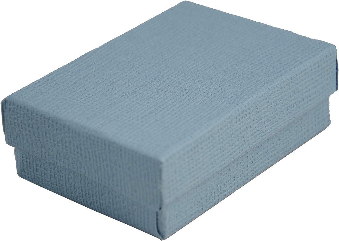 Boxdisplay 24 Cajas de cartón rectangulares de Lino Azul, para Joyas, Anillos, Pendientes, Gemelos, medallas, Caja de Regalo, 67 x 40 x 25 mm: Amazon.es: Joyería