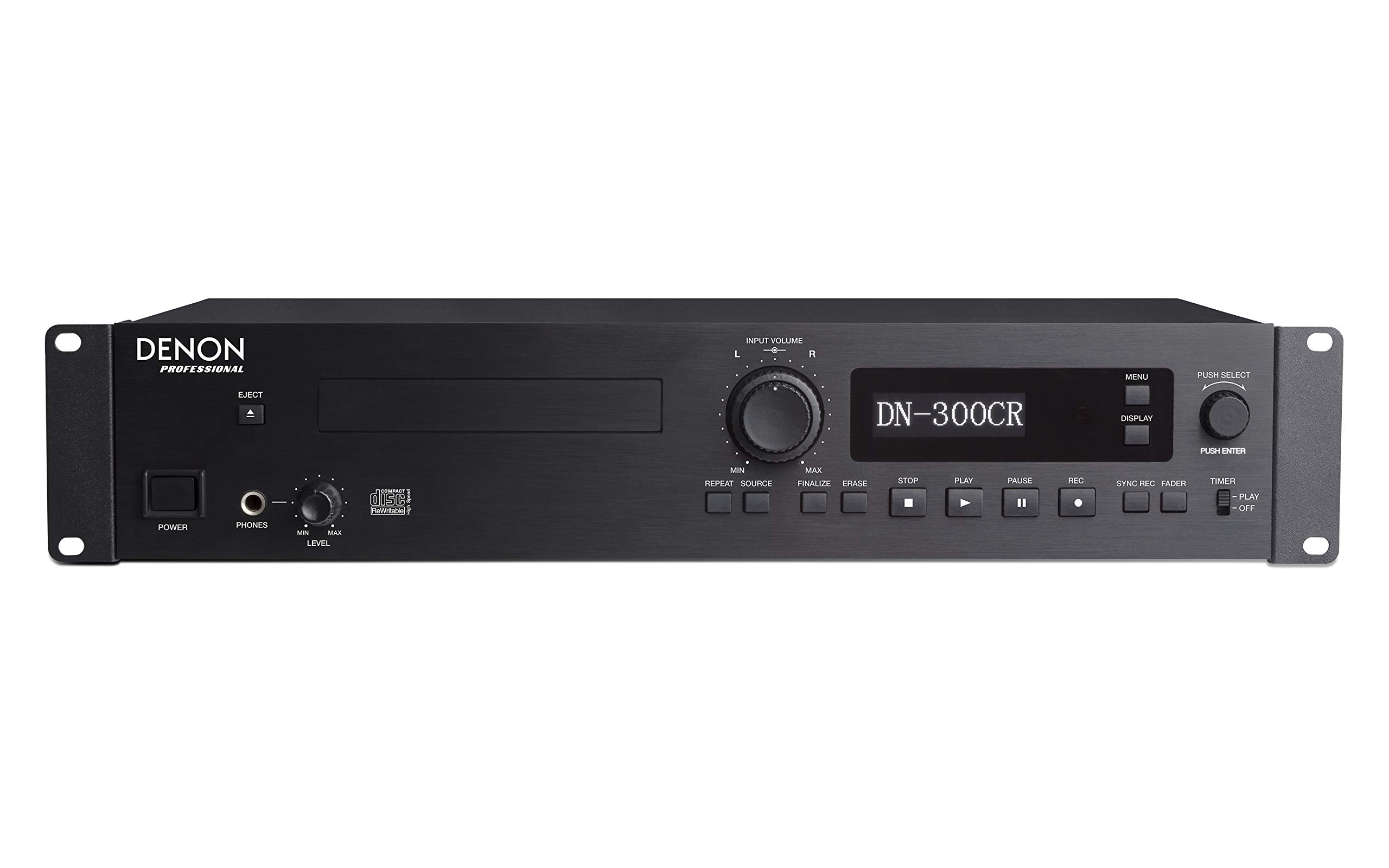 Denon Professional Rackmount Professional CD recorder/Player with Rugged Tray Transport DN300CRXUS
