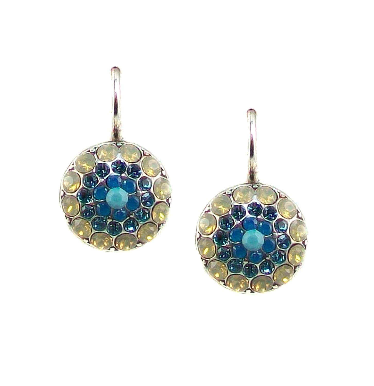 Mariana Grace Antique Silver Plated Swarovski Crystal Drop Earrings