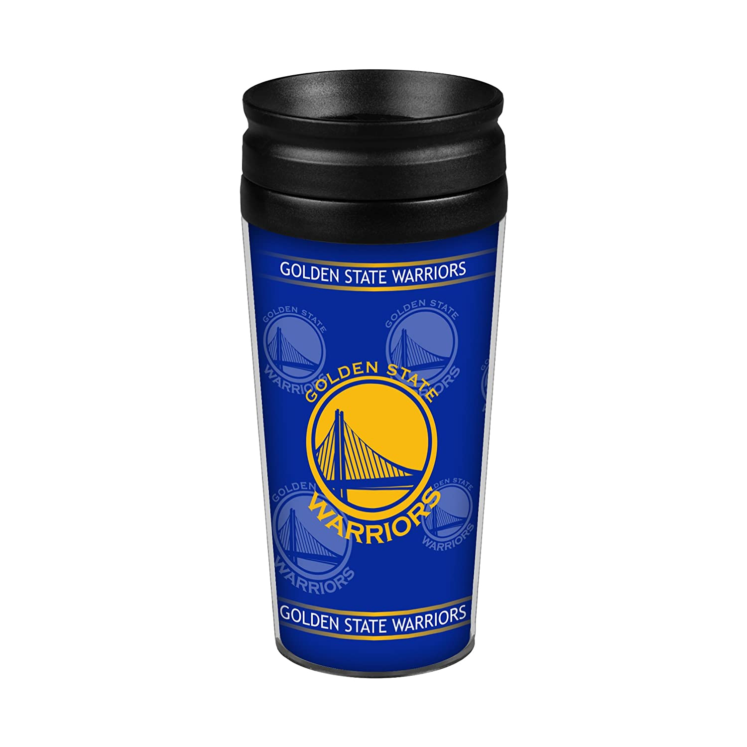 Golden State Warriors 14oz. Full Wrap Travel Mug Boelter Brands 8886002026