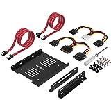 """Inateck Cadre de montage pour 2 x HDD/SSD de 2,5 Pouces, 2,5"""" HDD/SSD vers 3,5"""" Disque Dur Interne, 2 Câbles SATA et 2 Câbles d'alimentation Inclus (ST1004)"""
