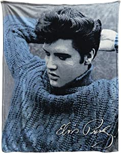 Midsouth Products Elvis Throw Blanket - Blue Sweater