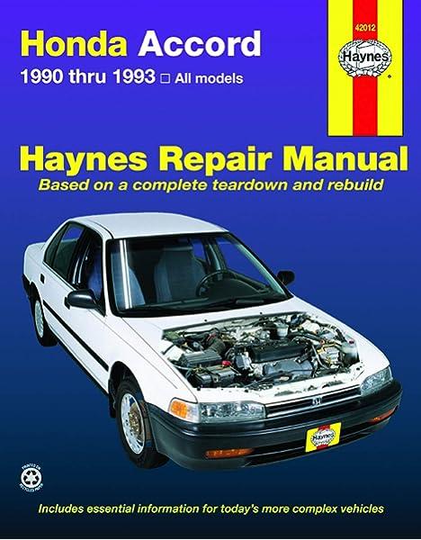 [DIAGRAM_5UK]  Honda Accord (90-93) Haynes Repair Manual: Haynes, John: 9781563920677:  Amazon.com: Books | 1993 Honda Accord Fuel Filter Replacement |  | Amazon.com