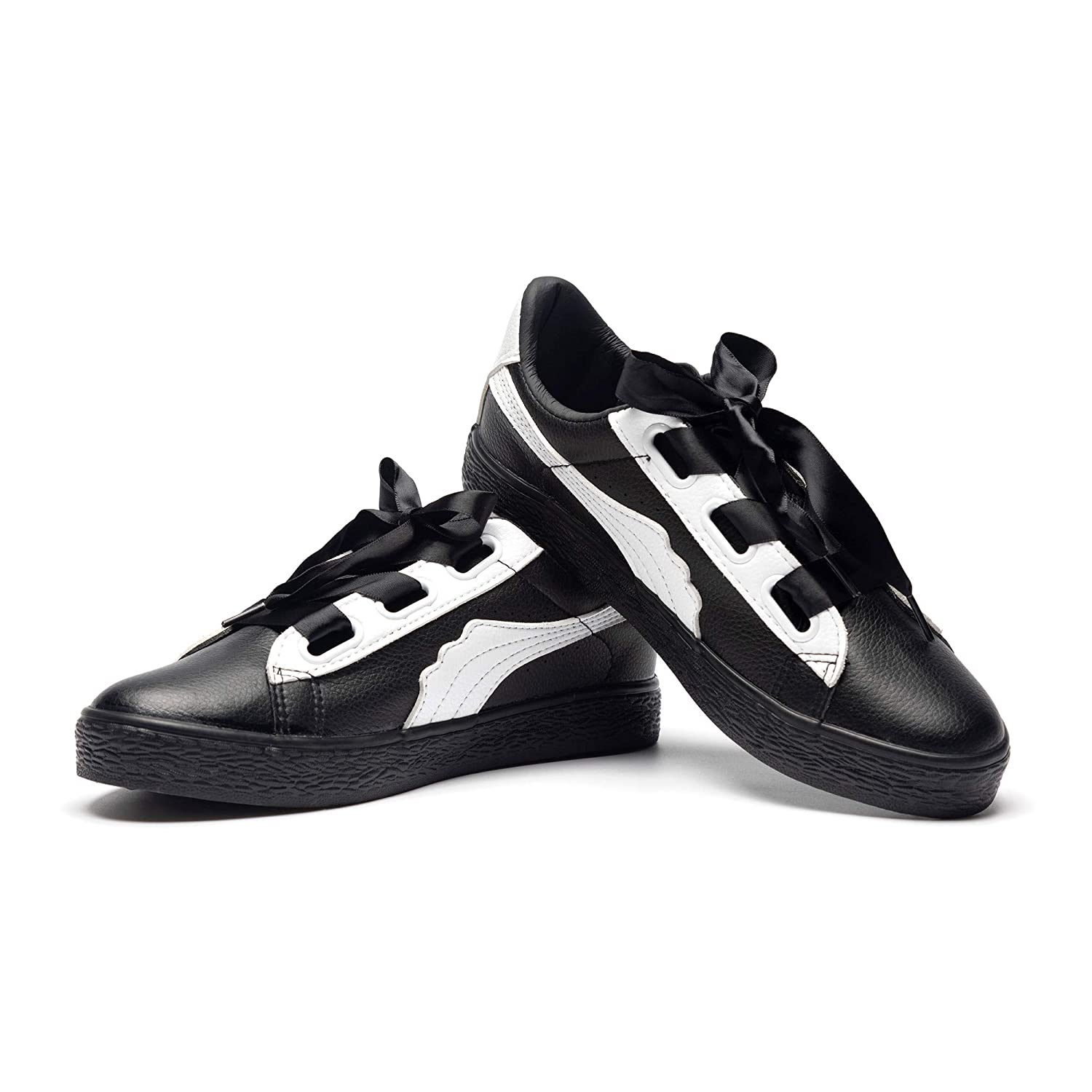 Synthetic Leather - Black & White Lantina Women's Low Top Fashion Sneakers