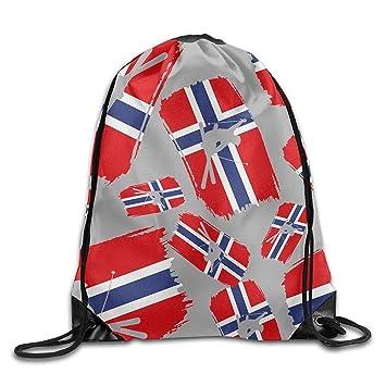 Yesliy Freestyle - Mochila de esquí con Bandera de Noruega, Unisex, con Cordón, para Gimnasio: Amazon.es: Deportes y aire libre