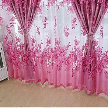 Amazon De Amberzcy Vorhang Schlafzimmer Wohnzimmer Boden Bis Zur