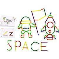 edxeducation GeoStix Letter Construction Set - Educational Toy - 200 Connecting Sticks - 50 Activities - Build Letters…