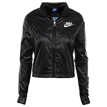 Nike NSW JKT Chaquetas Cortavientos swsh, Negro, Blanco ...