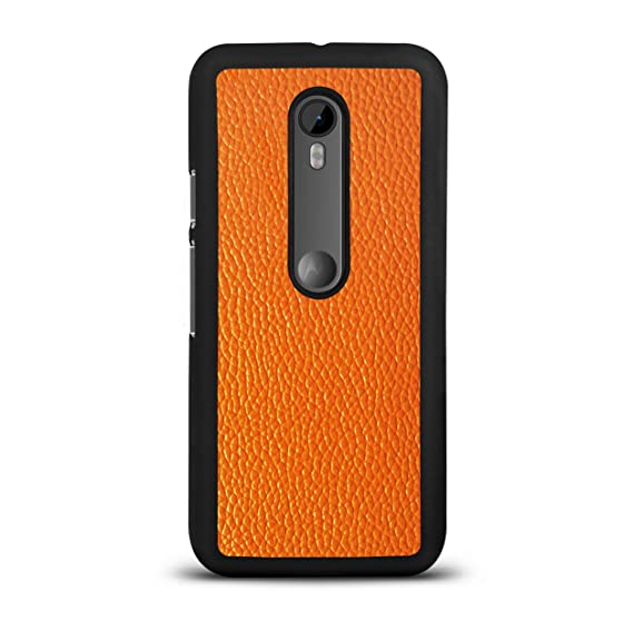 new arrival 88f9f f8620 Moto G Turbo Edition Leather Back Cover Premium Hand Crafted Faux ...
