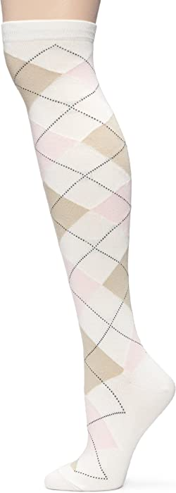 2e980aa7a HUE Women s 3-Pack Argyle Knee Socks