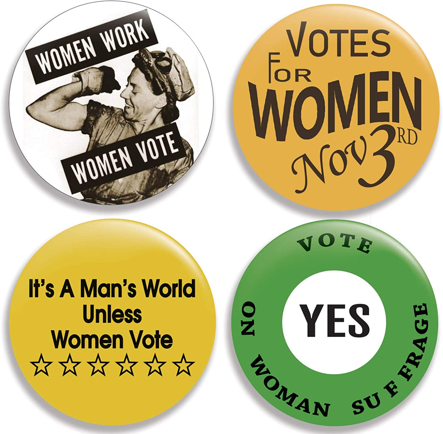 Amazon Com Votes For Women Collection Iv Pinback Buttons Pins