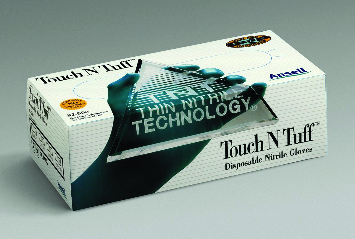 Teal Large Teal Large Ansell Predective Products Touch N Tuff Disposable Nitril Teal Large Pack Of 10 92-500L