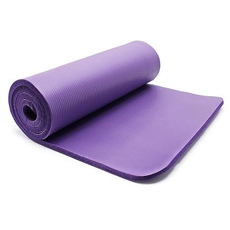 WilTec Esterilla Yoga Violeta 180x60x1.5cm colchoneta Suelo Gimnasia Deporte Antideslizante extragruesa