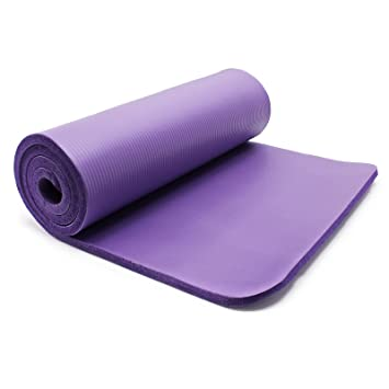 Esterilla yoga violeta 180x60x1.5cm colchoneta suelo gimnasia deporte antideslizante extragruesa