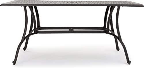 Christopher Knight Home Alfresco Outdoor Cast Aluminum Rectangular Dining Table