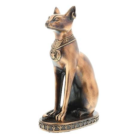 Con texto en inglés antiguo Egipto Collectables~de gato Bastet egipcio acabado de cobre