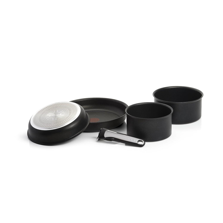 Tefal - Set de 5 Piezas para inducción, Color Negro