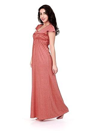ae0410b880 Honeydew Vista Gj Coral Cotton Nighty for Women - Free Size  Amazon ...