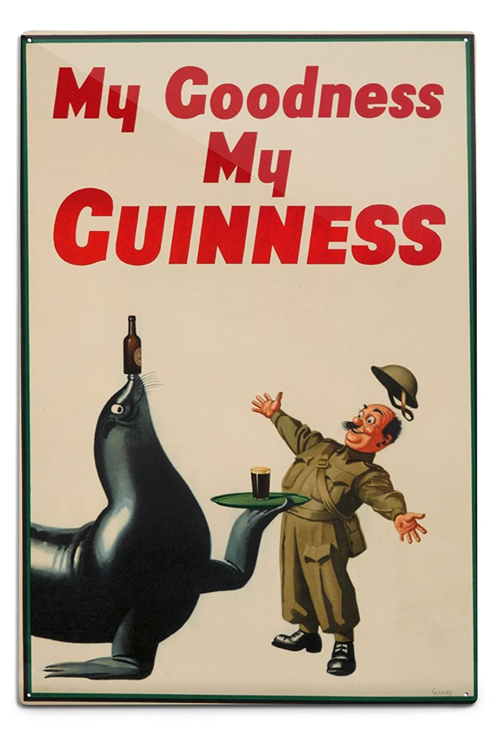 My Goodness My Guinnessヴィンテージポスター(アーティスト: Gilroy ) UK C。1936 12 x 18 Metal Sign LANT-73008-12x18M B06Y1GJZTS  12 x 18 Metal Sign