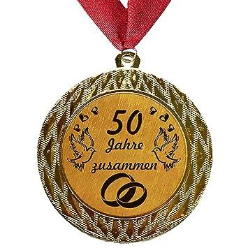 Larius Group Medaille Orden 50 Jahre Zusammen Goldene Hochzeit Goldhochzeit Jubilar Geschenk