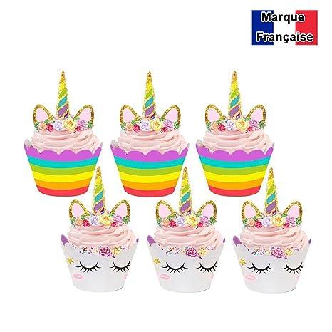 ✮ Marque Francaise ✮ -colonel cook-cupcake licorne lot de 24  garantía ...