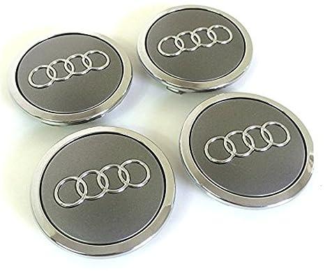 Juego de cuatro tapacubos de aluminio para llantas de Audi 4B0601170 8T0 601 170 A 69 ...