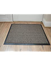 FunkyBuys Large Heavy Duty Non Slip Entrance Barrier Mat Machine Washable Rugs Indoor/Outdoor Carpet