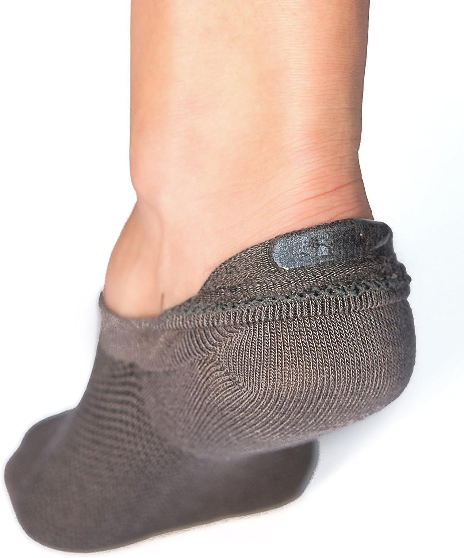 """antiscivolo 4 paia di calzini modello /""""fantasmini/"""" da donna Bambu"""