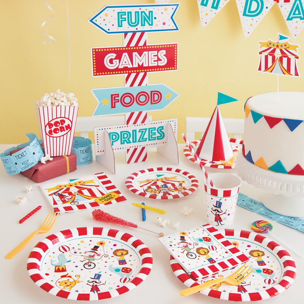 Unique Party 72477-11ft Carnival Circus Party Birthday Bunting
