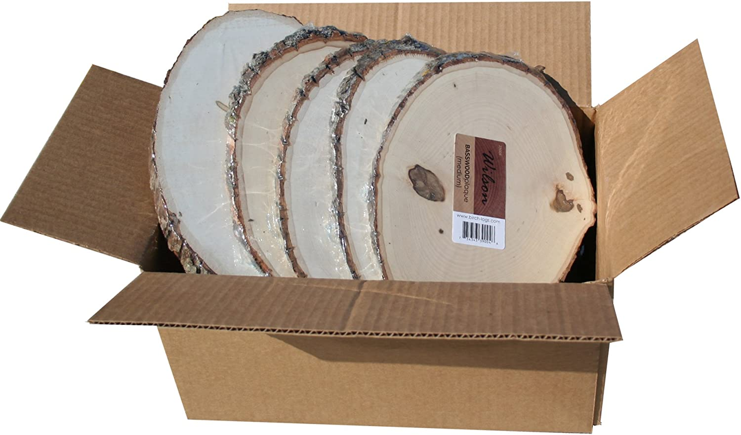 Basswood Plaque (Round/Oval) Bulk Quantity Value Box (Large (9-11 inch Diameter) Pack of 10)