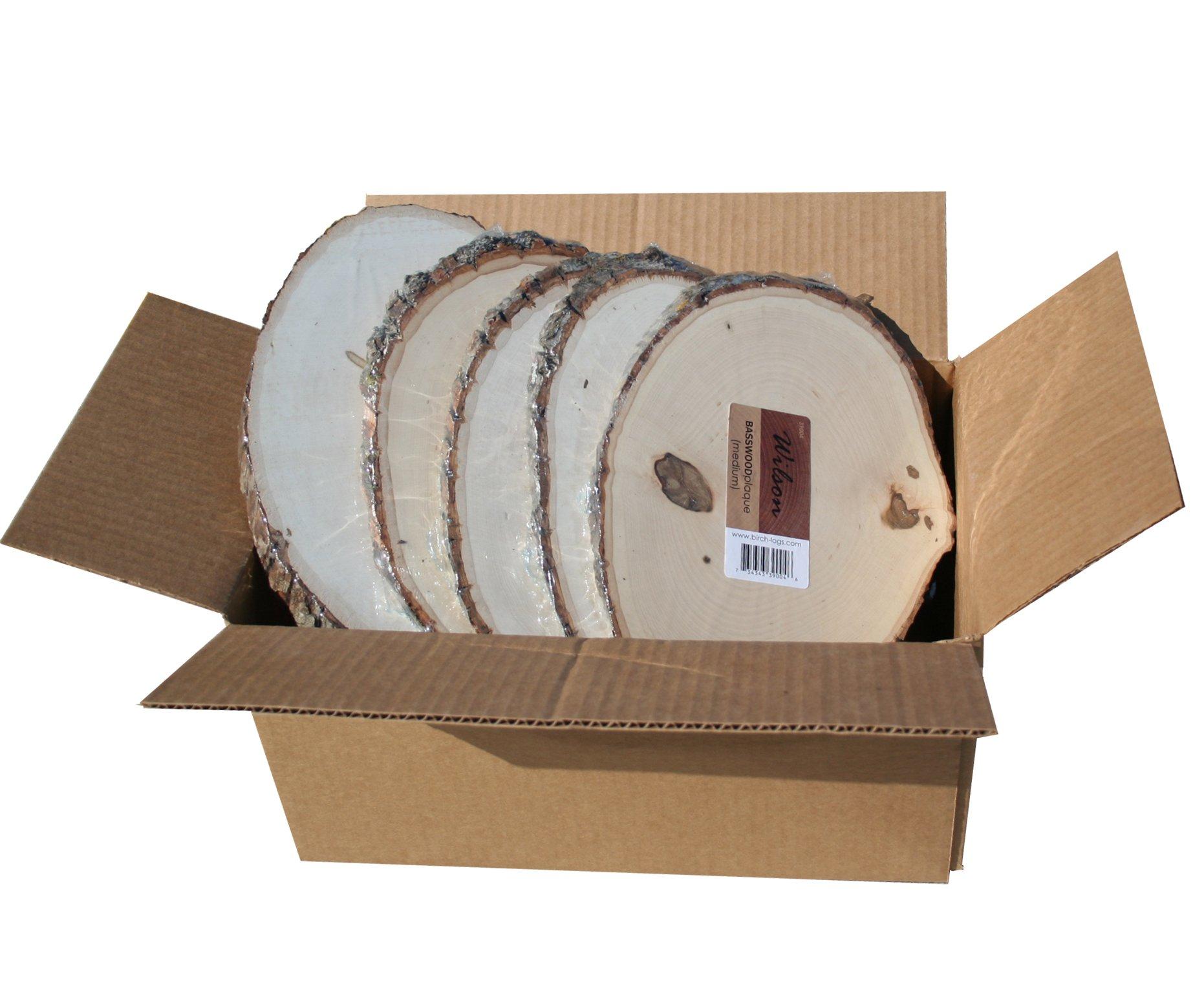 Basswood Plaque (Round/Oval) Bulk Quantity Value Box (Medium (7''-9'' diameter) pack of 10)
