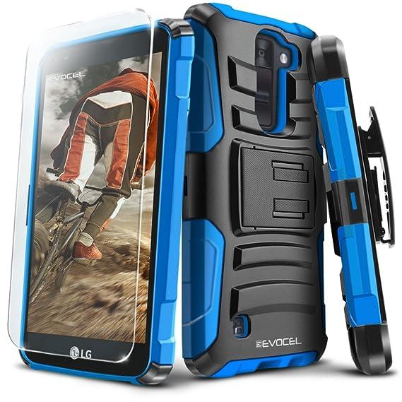huge discount 06e58 55a15 LG K8 V (Verizon) Case, Evocel [Generation Series] Belt Clip Holster,  Kickstand, HD Screen Protector, Dual Layer for LG K8V (VS500), Blue ...