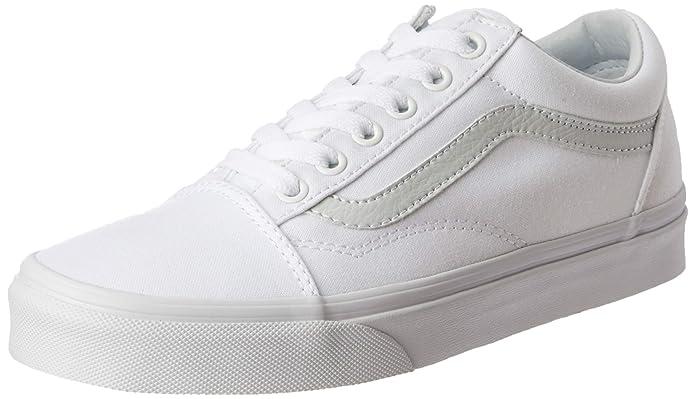 Vans Unisex-Erwachsene Old Skool Classic Canvas Sneakers Weiß