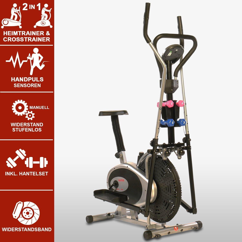 V/élo elliptique AsVIVA 2 en 1 Cross Trainer