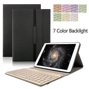 Samsung Galaxy Tab 10,1 Funda Teclado, Inalámbrico Bluetooth Iluminación SM-T580/