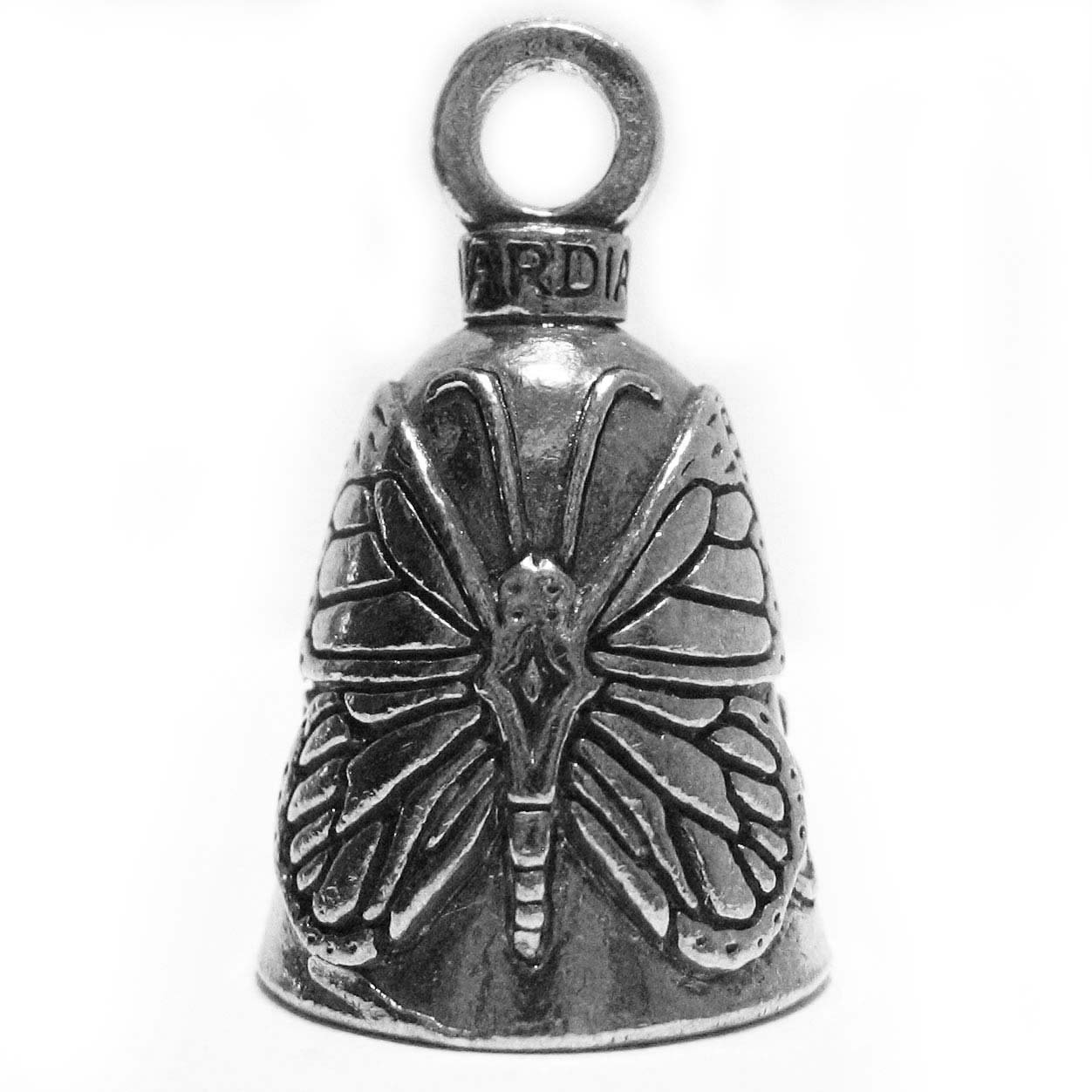 Guardian® Butterfly and Flowers Motorcycle Biker Luck Gremlin Riding Bell or Key Ring Guardian® Bell GBBTFY