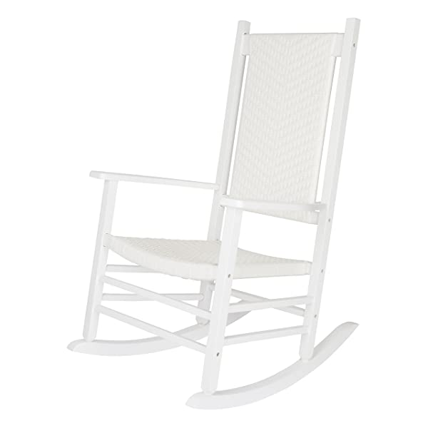 Shine Company 4335WT Hampton Porch Rocker, White